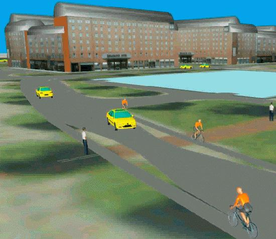 VISSIM modelling cyclists and pedestrians